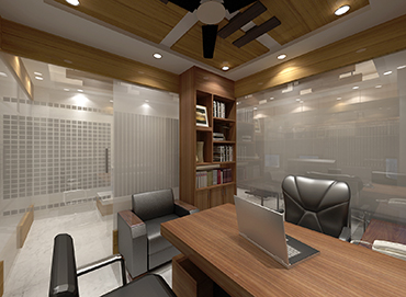 CEO Desk Design for Corporate Office of Izme