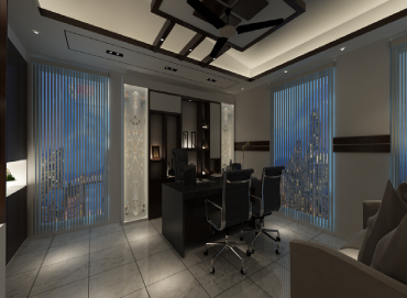 CEO Desk Design for JSS Service Ltd by Interior Studio Ace dark view