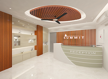 Receiption Desk Design for Summit Group by Interior Studio Ace