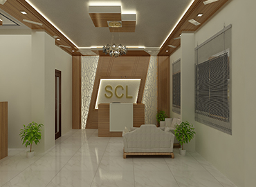 Reception Desk Design for SCL Development by Interior Studio Ace