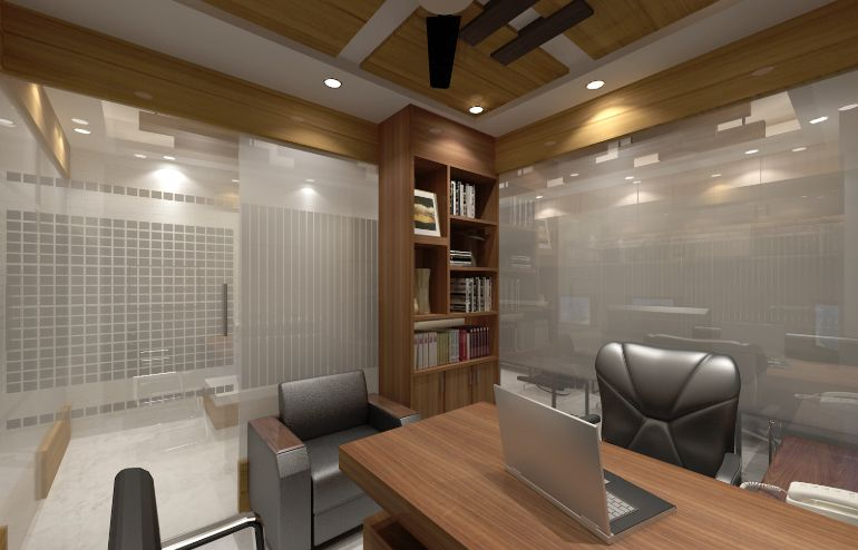 Successfully Completed Beautiful CEO Desk Design for Corporate Office of Izme