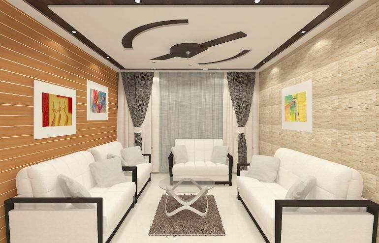 Formal living design for residence of Dr. Shafiqul by Interior Studio Ace