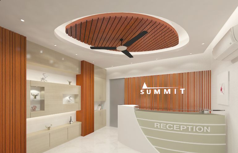 Successfully Completed Beautiful Reception Space Design for Summit Group